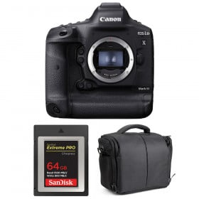 Canon EOS 1D X Mark III + SanDisk 64GB Extreme PRO CFexpress Type B + Sac