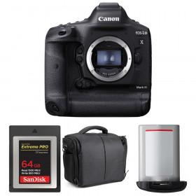 Canon EOS 1D X Mark III + SanDisk 64GB Extreme PRO CFexpress Type B + Canon LP-E19 + Sac