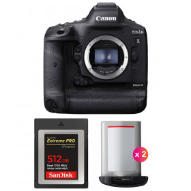 Canon EOS 1D X Mark III + SanDisk 512GB Extreme PRO CFexpress Type B + 2 Canon LP-E19 | 2 Years Warranty