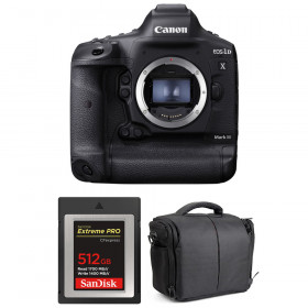 Canon EOS 1D X Mark III + SanDisk 512GB Extreme PRO CFexpress Type B + Sac