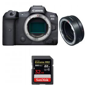Canon EOS R5 + EF-EOS R + SanDisk 32GB Extreme PRO UHS-II SDXC 300 MB/s | 2 años de garantía