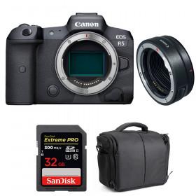 Canon EOS R5 + EF-EOS R + SanDisk 32GB Extreme PRO UHS-II SDXC 300 MB/s + Bolsa | 2 años de garantía