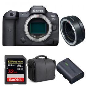 Canon EOS R5 + EF-EOS R + SanDisk 32GB Extreme PRO UHS-II SDXC 300 MB/s + Canon LP-E6NH + Bolsa | 2 años de garantía