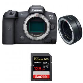 Canon EOS R5 + EF-EOS R + SanDisk 128GB Extreme PRO UHS-II SDXC 300 MB/s