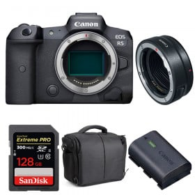 Canon EOS R5 + EF-EOS R + SanDisk 128GB Extreme PRO UHS-II SDXC 300 MB/s + Canon LP-E6NH + Sac