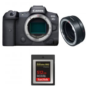 Canon EOS R5 + EF-EOS R + SanDisk 512GB Extreme PRO CFexpress Type B