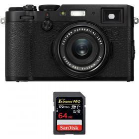 Fujifilm X100F Negro + SanDisk 64GB Extreme Pro UHS-I SDXC 170 MB/s | 2 años de garantía