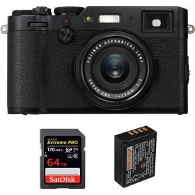 Fujifilm X100F Negro + SanDisk 64GB Extreme Pro UHS-I SDXC 170 MB/s + Fujifilm NP-W126S | 2 años de garantía
