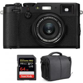 Fujifilm X100F Negro + SanDisk 64GB Extreme Pro UHS-I SDXC 170 MB/s + Bolsa | 2 años de garantía