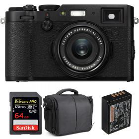 Fujifilm X100F Negro + SanDisk 64GB Extreme Pro UHS-I SDXC 170 MB/s + Fujifilm NP-W126S + Bolsa | 2 años de garantía