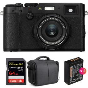 Fujifilm X100F Negro + SanDisk 64GB Extreme Pro UHS-I SDXC 170 MB/s + 2 Fujifilm NP-W126S + Bolsa | 2 años de garantía