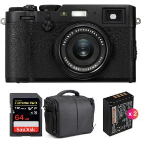 Fujifilm X100F Noir + SanDisk 64GB Extreme Pro UHS-I SDXC 170 MB/s + 2 Fujifilm NP-W126S + Sac