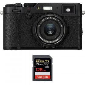 Fujifilm X100F Negro + SanDisk 128GB Extreme Pro UHS-I SDXC 170 MB/s | 2 años de garantía