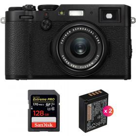 Fujifilm X100F Black + SanDisk 128GB Extreme Pro UHS-I SDXC 170 MB/s + 2 Fujifilm NP-W126S   2 Years Warranty