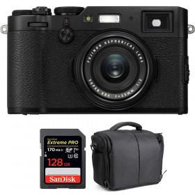 Fujifilm X100F Negro + SanDisk 128GB Extreme Pro UHS-I SDXC 170 MB/s + Bolsa | 2 años de garantía