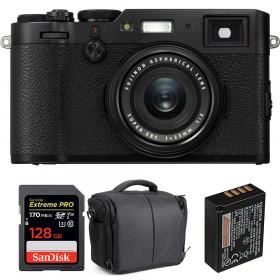 Fujifilm X100F Negro + SanDisk 128GB Extreme Pro UHS-I SDXC 170 MB/s + Fujifilm NP-W126S + Bolsa | 2 años de garantía