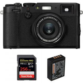 Fujifilm X100F Black + SanDisk 256GB Extreme Pro UHS-I SDXC 170 MB/s + Fujifilm NP-W126S   2 Years Warranty
