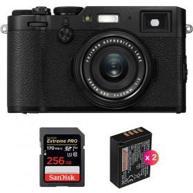 Fujifilm X100F Noir + SanDisk 256GB Extreme Pro UHS-I SDXC 170 MB/s + 2 Fujifilm NP-W126S