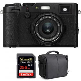 Fujifilm X100F Negro + SanDisk 256GB Extreme Pro UHS-I SDXC 170 MB/s + Bolsa | 2 años de garantía
