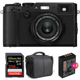 Fujifilm X100F Noir + SanDisk 256GB Extreme Pro UHS-I SDXC 170 MB/s + 2 Fujifilm NP-W126S + Sac