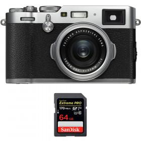 Fujifilm X100F Silver + SanDisk 64GB Extreme Pro UHS-I SDXC 170 MB/s | 2 años de garantía
