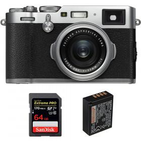 Fujifilm X100F Silver + SanDisk 64GB Extreme Pro UHS-I SDXC 170 MB/s + Fujifilm NP-W126S