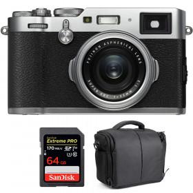 Fujifilm X100F Silver + SanDisk 64GB Extreme Pro UHS-I SDXC 170 MB/s + Bolsa | 2 años de garantía