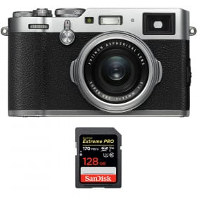 Fujifilm X100F Silver + SanDisk 128GB Extreme Pro UHS-I SDXC 170 MB/s | 2 años de garantía