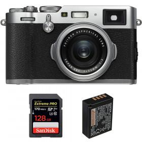 Fujifilm X100F Silver + SanDisk 128GB Extreme Pro UHS-I SDXC 170 MB/s + Fujifilm NP-W126S