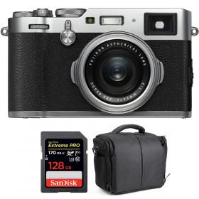 Fujifilm X100F Silver + SanDisk 128GB Extreme Pro UHS-I SDXC 170 MB/s + Bolsa | 2 años de garantía
