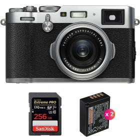 Fujifilm X100F Silver + SanDisk 256GB Extreme Pro UHS-I SDXC 170 MB/s + 2 Fujifilm NP-W126S   2 Years Warranty
