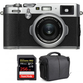Fujifilm X100F Silver + SanDisk 256GB Extreme Pro UHS-I SDXC 170 MB/s + Bolsa | 2 años de garantía
