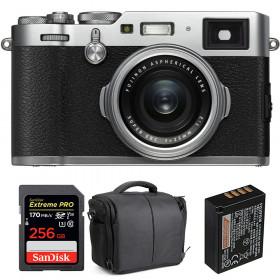 Fujifilm X100F Silver + SanDisk 256GB Extreme Pro UHS-I SDXC 170 MB/s + Fujifilm NP-W126S + Bag   2 Years Warranty