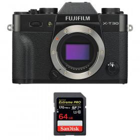 Fujifilm X-T30 Black + SanDisk 64GB Extreme Pro UHS-I SDXC 170 MB/s | 2 Years Warranty