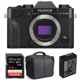 Fujifilm X-T30 Negro + SanDisk 64GB Extreme Pro UHS-I SDXC 170 MB/s + Fujifilm NP-W126S + Bolsa