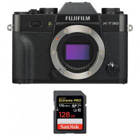 Fujifilm X-T30 Black + SanDisk 128GB Extreme Pro UHS-I SDXC 170 MB/s | 2 Years Warranty