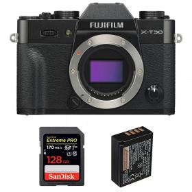 Fujifilm X-T30 Black + SanDisk 128GB Extreme Pro UHS-I SDXC 170 MB/s + Fujifilm NP-W126S | 2 Years Warranty