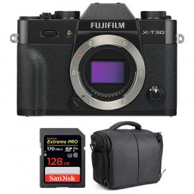 Fujifilm X-T30 Black + SanDisk 128GB Extreme Pro UHS-I SDXC 170 MB/s + Bag | 2 Years Warranty