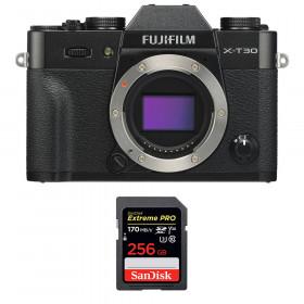 Fujifilm X-T30 Black + SanDisk 256GB Extreme Pro UHS-I SDXC 170 MB/s | 2 Years Warranty