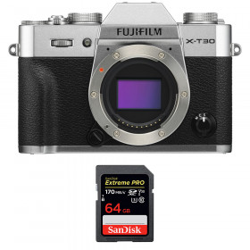 Fujifilm X-T30 Silver + SanDisk 64GB Extreme Pro UHS-I SDXC 170 MB/s | 2 Years Warranty