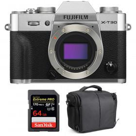 Fujifilm X-T30 Silver + SanDisk 64GB Extreme Pro UHS-I SDXC 170 MB/s + Bag | 2 Years Warranty