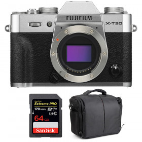 Fujifilm X-T30 Silver + SanDisk 64GB Extreme Pro UHS-I SDXC 170 MB/s + Bolsa