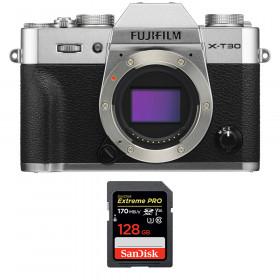 Fujifilm X-T30 Silver + SanDisk 128GB Extreme Pro UHS-I SDXC 170 MB/s | 2 Years Warranty