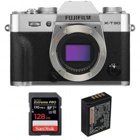 Fujifilm X-T30 Silver + SanDisk 128GB Extreme Pro UHS-I SDXC 170 MB/s + Fujifilm NP-W126S | 2 Years Warranty