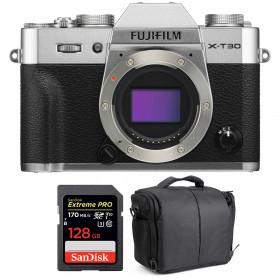 Fujifilm X-T30 Silver + SanDisk 128GB Extreme Pro UHS-I SDXC 170 MB/s + Bag | 2 Years Warranty