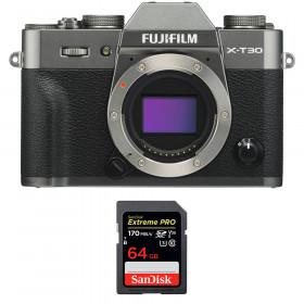 Fujifilm X-T30 Charcoal + SanDisk 64GB Extreme Pro UHS-I SDXC 170 MB/s | 2 Years Warranty