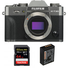 Fujifilm X-T30 Charcoal + SanDisk 64GB Extreme Pro UHS-I SDXC 170 MB/s + Fujifilm NP-W126S