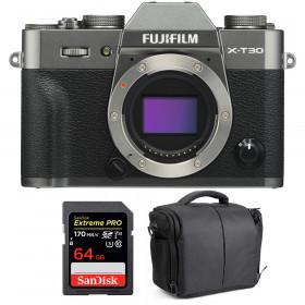 Fujifilm X-T30 Charcoal + SanDisk 64GB Extreme Pro UHS-I SDXC 170 MB/s + Bag | 2 Years Warranty