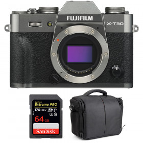 Fujifilm X-T30 Charcoal + SanDisk 64GB Extreme Pro UHS-I SDXC 170 MB/s + Bolsa