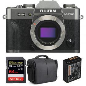 Fujifilm X-T30 Charcoal + SanDisk 64GB Extreme Pro UHS-I SDXC 170 MB/s + Fujifilm NP-W126S + Bolsa